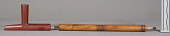 view Catlinite Pipe, Tobacco-Pouch & Cleaning Stick digital asset number 1