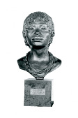 "view Bronze Bust - Native Girl - ""A Bakongo Girl"", by Herbert Ward digital asset number 1"