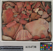 view Fragments Of Red Ornamented Pottery digital asset number 1