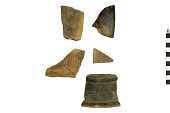 view Incised Black Ware Sherd, Mexican Pottery Fragments digital asset number 1