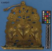 view Brass Hanukkah Lamp, Hammered & Repousse Work digital asset number 1
