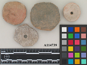 view Fragment Of Perforated Pottery. (4) digital asset number 1