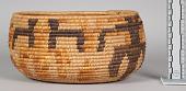 view Oblong Basket-Jar In Coiled Work digital asset number 1