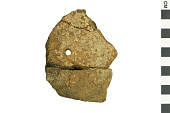 view Pope's Creek Ware Sherd, Prehistoric Pottery Fragment digital asset number 1