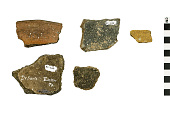 view Shell Tempered Sherds, Shell Tempered Sherds, Prehistoric Pottery Fragments digital asset number 1
