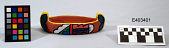 view Small, Painted Pottery Effigy Canoe digital asset number 1