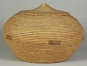 view Storage basket with lid digital asset number 1