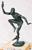 "view Bronze Statue & Base - ""Le Sorcier"" or ""The Charm Doctor"", by Herbert Ward digital asset number 1"