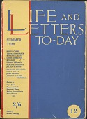 view Life and Letters To-Day digital asset: Life and Letters To-Day
