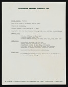 view Catherine Viviano Gallery records digital asset: Brown, Carlyle (biographical material and artist's statement)