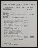 view Financial Report for the Relief Fund for the Families of French Soldier-Artists digital asset: Financial Report for the Relief Fund for the Families of French Soldier-Artists