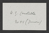 view W.G. Constable papers digital asset: Club Memberships, A-D