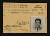 view Membership Card, National Committee of Plastic Arts digital asset: Membership Card, National Committee of Plastic Arts