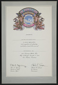 view Jaime Davidovich papers digital asset: Certificate, 1984 Louisiana World's Fair