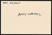 view Colin de Land collection digital asset: Pat Hearn and Andy Warhol
