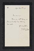 view Albert Duveen collection of artists' letters and ephemera digital asset: Vos, J. Hubert