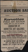 view Photocopy of Korvettes Art Galleries Auction Catalog and Clipping digital asset: Photocopy of Korvettes Art Galleries Auction Catalog and Clipping