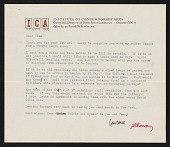 view Clement Greenberg papers digital asset: Alloway, Lawrence
