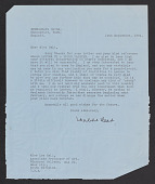 view Lee Hall papers digital asset: Correspondence