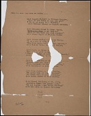 view Nathan Halper business records digital asset: Untitled Literary Poem