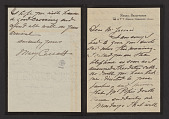 view August Jaccaci papers digital asset: Cassatt, Mary