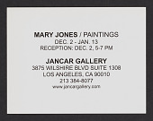 view Jancar Gallery records digital asset: Exhibition Announcements