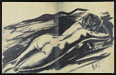 """view Drawing, """"Reclining Nude"""" digital asset: Drawing, """"Reclining Nude"""""""