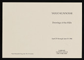 view Drawings of the 1920s, Zabriskie Gallery (1986) digital asset: Drawings of the 1920s, Zabriskie Gallery (1986)