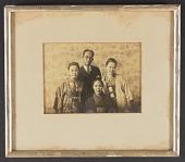 view Yasuo Kuniyoshi and Family Members (Framed Photograph) digital asset: Yasuo Kuniyoshi and Family Members (Framed Photograph)