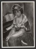 view Girl at Piano (1921) digital asset: Girl at Piano (1921)