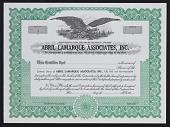 view Abril Lamarque Associates blank share certificates digital asset: Abril Lamarque Associates blank share certificates