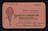 view Membership cards- Society of American Magicians digital asset: Membership cards- Society of American Magicians