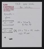 view Kosuth, Joseph (Sept 17-Oct 15, 1988); 578 Broadway digital asset: Kosuth, Joseph (Sept 17-Oct 15, 1988); 578 Broadway