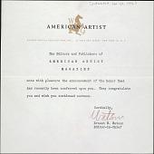 view American Artist - American Jewish Tercentenary Committee digital asset: American Artist - American Jewish Tercentenary Committee