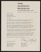 view Howard W. and Jean Lipman papers digital asset: Aldrich Museum of Contemporary Art