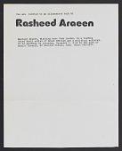 view Lucy R. Lippard papers digital asset: Araeen, Rasheed