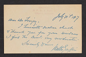 view Rupert Scott Lovejoy papers digital asset: Letters from Walter Griffin