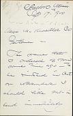 view Letters to M. Knoedler digital asset: Letters to M. Knoedler: 1900 September
