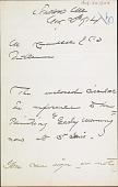 view Letter to M. Knoedler digital asset: Letter to M. Knoedler: 1904 August