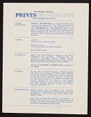 view Phillips Collection / Washington Print Club digital asset: Phillips Collection / Washington Print Club
