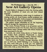 view Parish Gallery records digital asset: Parish Gallery Grand Opening Exhibition (1991)
