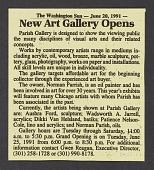 view Parish Gallery records digital asset: Parish Gallery Grand Opening Exhibition (1991)