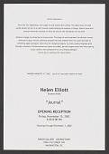 view Helen Elliott— Journal (2002) digital asset: Helen Elliott— Journal (2002)