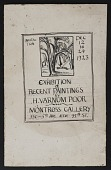 view Exhibition Announcement, Montross Gallery digital asset: Exhibition Announcement, Montross Gallery