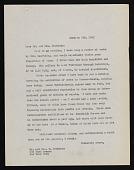 view Baertling, Olle, Correspondence digital asset: Baertling, Olle, Correspondence