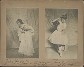 view Photograph of John Sloan and Frank Taylor in Costume digital asset: Photograph of John Sloan and Frank Taylor in Costume