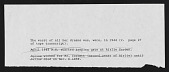 view Notes by Nina Howell Starr from Interviews with Minnie Evans digital asset: Notes by Nina Howell Starr from Interviews with Minnie Evans