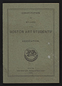 view Boston Art Students' Association Constitution and By-Laws digital asset: Boston Art Students' Association Constitution and By-Laws