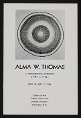view Alma W. Thomas: A Retrospective Exhibition, 1959-1966 (1966), Howard University Gallery of Art digital asset: Alma W. Thomas: A Retrospective Exhibition 1959-1966 (1966), Howard University Gallery of Art,