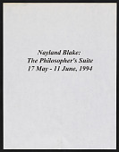 "view Thread Waxing Space records digital asset: Nayland Blake, ""The Philosopher's Suite"" (May 17 - June 11, 1994)"